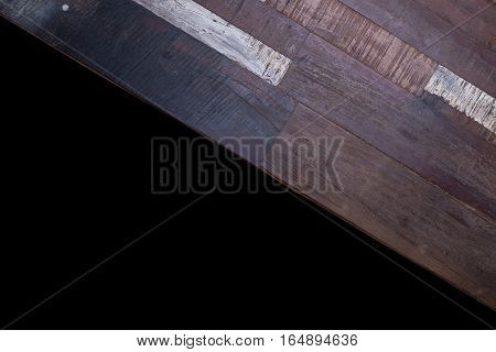 Timber Wood Panel Plank Isolated On Black Background