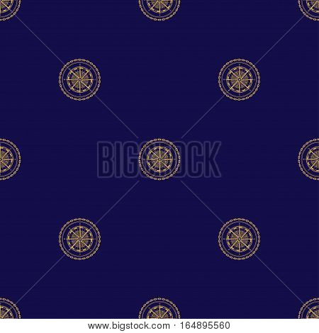 Seamless Pattern with Compass Rose, Wind Rose on a Navy Background, Seamless Pattern of Maritime Emblem for Web Design and Wallpaper and Fabric