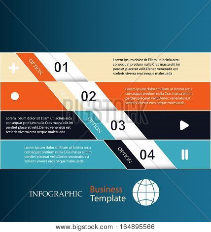 Banners infographic template with place for your content