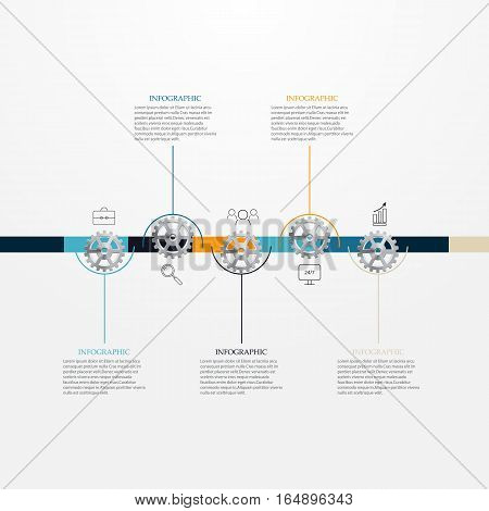 Chronology of a business concept.Infographic.Moreopportunity for workflow layout, diagram, presentation, education or other options.