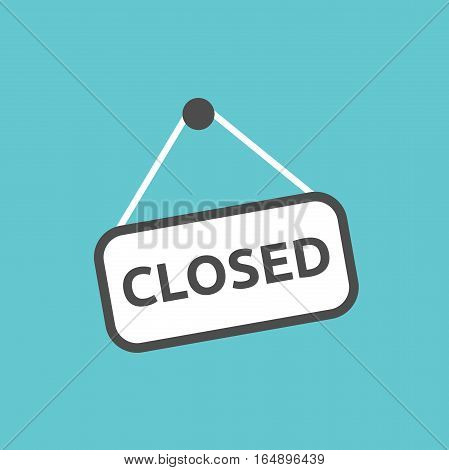 Closed Sign Hanging