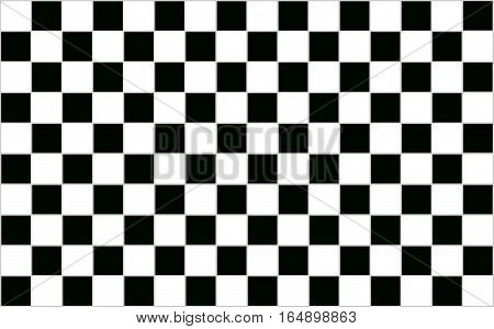 Square Black and white checkered abstract background with grey border
