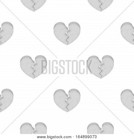 Heart icon in cartoon style isolated on white background. Romantic pattern vector illustration.