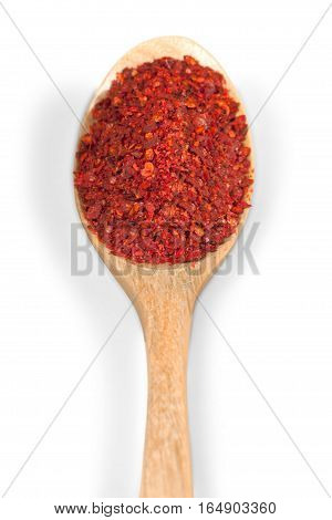border frame of colorful powder spices with copy space for text isolated on a white background