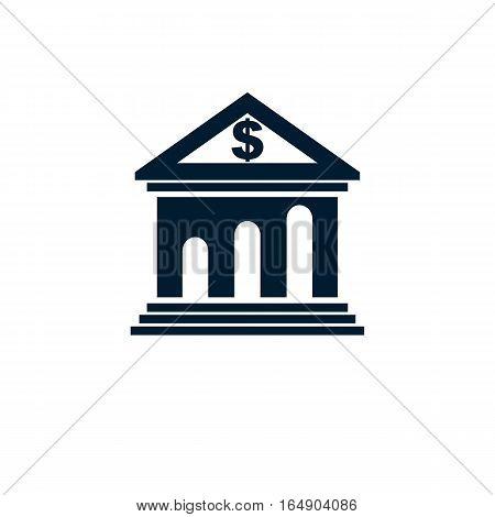 Banking Conceptual Logo, Unique Vector Symbol. Banking System.