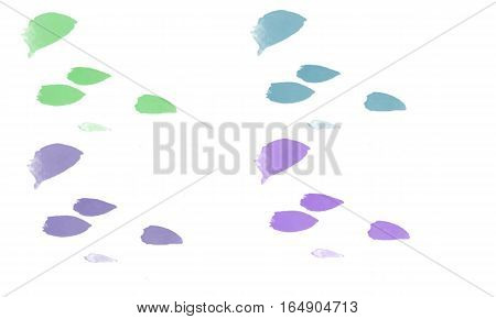 watercolor stains set over white background use in art work