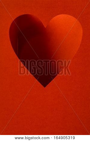 Greeting Card With Hearts On A Red Background Free On Valentine's Day