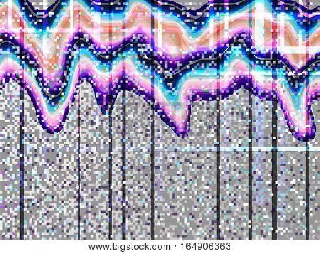 Glitch Computer Screen Fail Data Error Waves 1