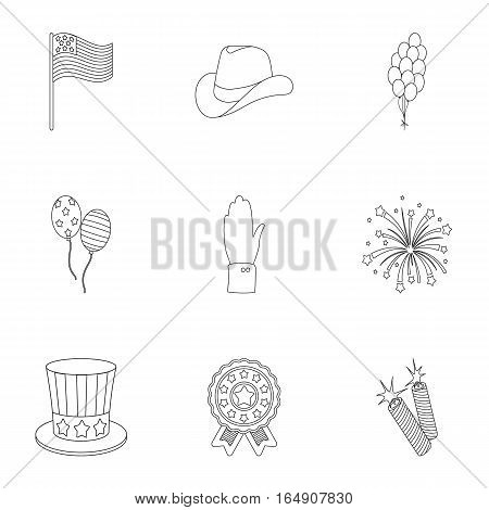 Patriot Day set icons in outline style. Big collection of Patriot Day vector symbol stock