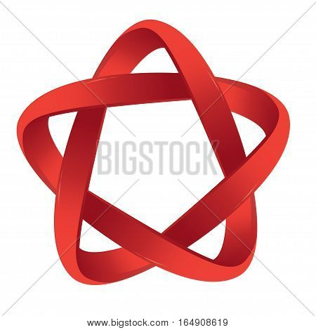 Logo in red on a white background