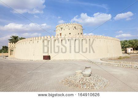 The historic Hili tower in the city of Al Ain. Emirate of Abu Dhabi United Arab Emirates