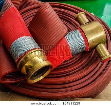 firefighter hose in factory automotive parts industry