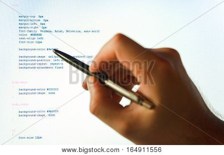 a computer programmer is analyzing his code.