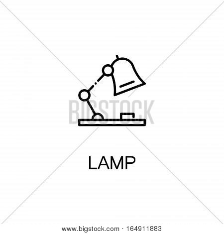 Lamp flat icon. Single high quality outline symbol of education for web design or mobile app. Thin line signs of Lamp for design logo, visit card, etc. Outline pictogram of Lamp