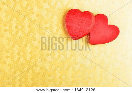 Heart On Decorative Background