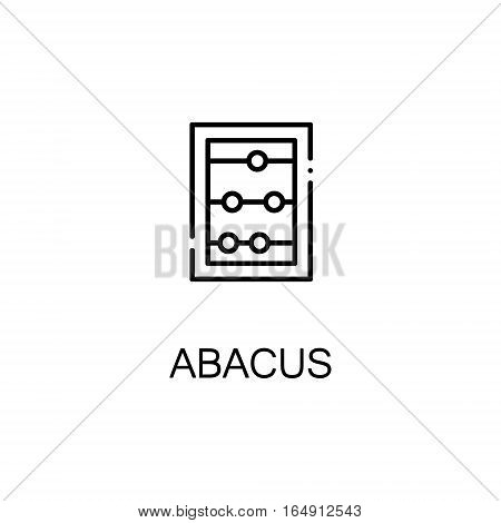 Abacus flat icon. Single high quality outline symbol of education for web design or mobile app. Thin line signs of Abacus for design logo, visit card, etc. Outline pictogram of Abacus