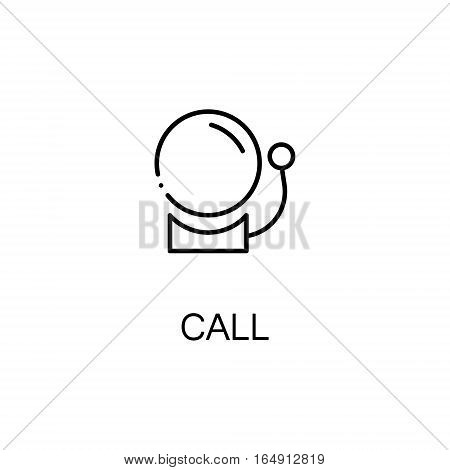 School callflat icon. Single high quality outline symbol of education for web design or mobile app. Thin line signs of School callfor design logo, visit card, etc. Outline pictogram of School call