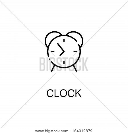 Alarm clock flat icon. Single high quality outline symbol of education for web design or mobile app. Thin line signs of Alarm clock for design logo, visit card, etc. Outline pictogram of Alarm clock