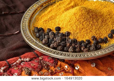 Turmeric and black pepper combination has great heath benefits