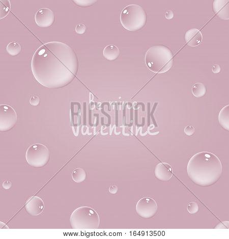 Pink Bubbles Pattern.