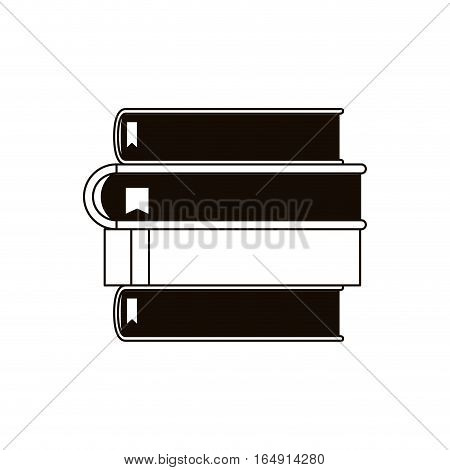 Books icon. Education literature read library theme. Isolated design. Vector illustration