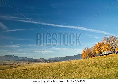 Nature in autumn on the Haj-Nicovo near Liptovsky Mikulas.