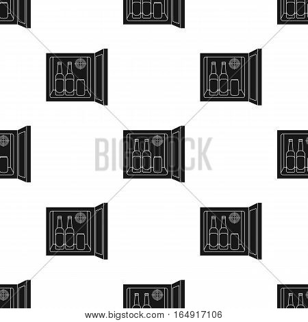 Mini-bar icon in black style isolated on white background. Kitchen pattern vector illustration.