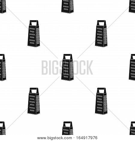 Grater icon in black style isolated on white background. Kitchen pattern vector illustration.