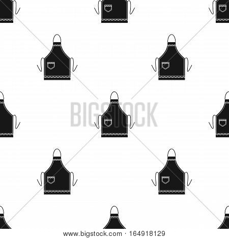 Apron icon in black style isolated on white background. Kitchen pattern vector illustration.