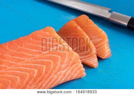 Slicing Salmon Fillet