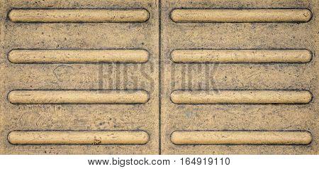 horizontal line yellow tactile paving texture background