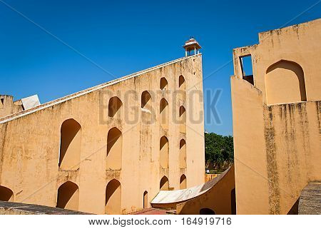 Astronomical instrument at Jantar Mantar observatory Jaipur Rajasthan India