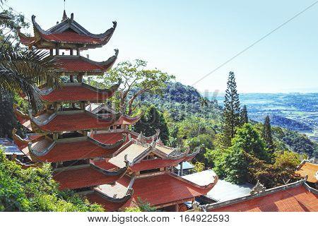 Pagoda in Ta Cu mountain Binh Thuan province Vietnam