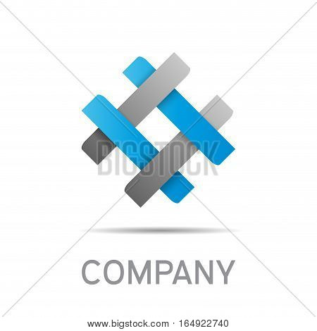 Vector abstract sign concept of synergy and teamwork