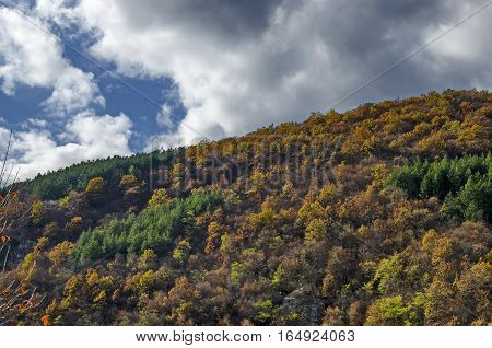 Colorful autumn landscape in the  Balkan mountain, Bulgaria