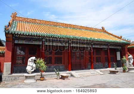Jiezhi Palace in the Shenyang Imperial Palace (Mukden Palace), Shenyang, Liaoning Province, China. Shenyang Imperial Palace is UNESCO world heritage site built in 400 years ago.