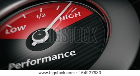 3D Rendering Car Indicator High Performance