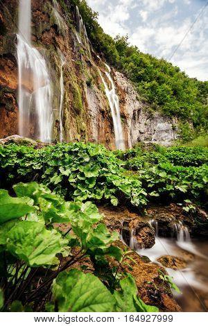 Great Falls Sastavtsi in Plitvice Lakes National Park.