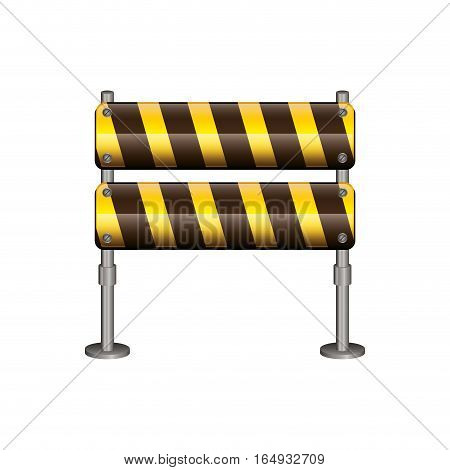 Barrier road sign icon. Under construction work repair and progress theme. Isolated design. Vector illustration