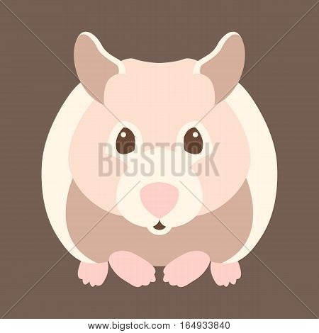 hamster style vector illustration Flat side front