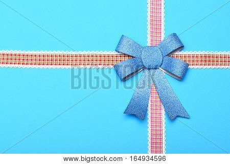 Decorative Valentine Blue Bow