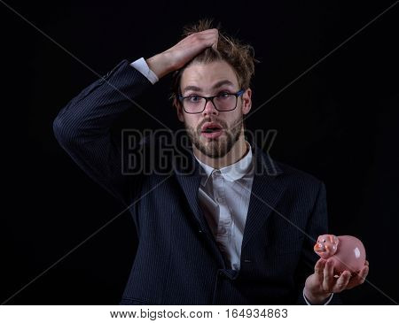 Surprised Business Man In Suit