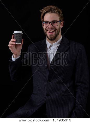 Smiling Business Man In Suit