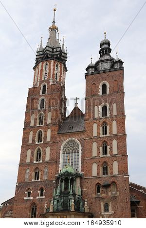 Church Of Our Lady Assumed Into Heaven In Krakow Poland