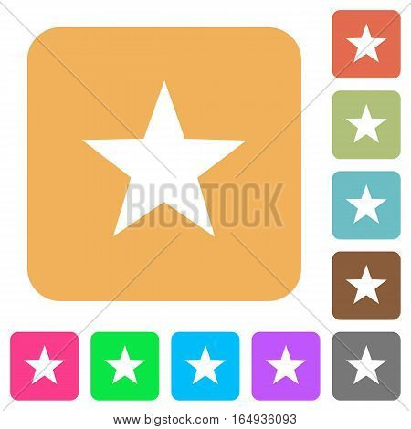 Favorite flat icons on rounded square vivid color backgrounds.
