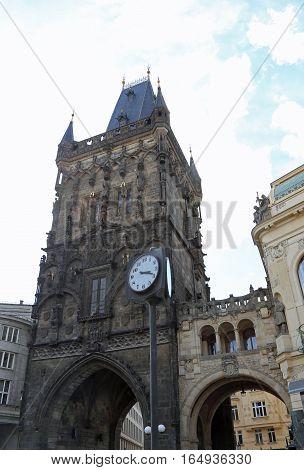 The Powder Tower Or Powder Gate In Prague