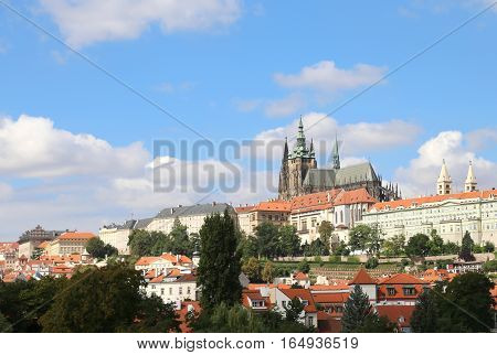 Saint Vitus Cathedral Is Situated Neat The Prague Castle In The