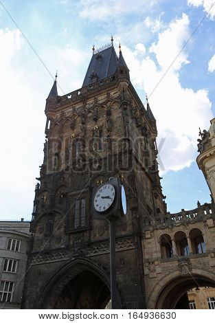 Powder Tower Or Powder Gate In Czech Republic Europe