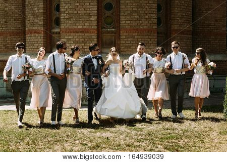 Lovely Photo Of The Couple And Their Friends