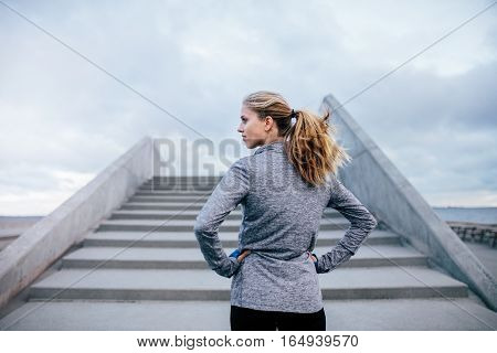 Fitness Female Before A Run